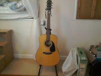 Fender acoustic guitar