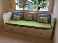 Ikea Hemnes Day Bed / Sofa with 2 Mattresses