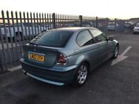 2002 BMW 3 Series 1,8 litre 3dr 2 owners FSH