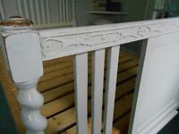 Classic carved wood double bed for sale