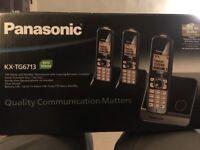 Panasonic 3 Handset Dect Phone for sale