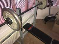 York Heavy Duty Weight Bench with Lat Pull Down Machine