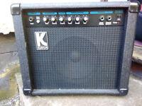 Kustom KLA20 Guitar Combo Amplifier 20/40 watts