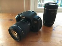 Canon EOS 700D DSLR Camera with 18-55mm & 55- 250mm lens, Lowepro bag, 32Gb SD card and stand