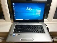 Toshiba satellite HD 4GB fast Laptop 320GB,Window10,Microsoft office,Ready,Excellent condition