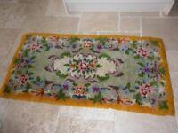 "Handmade tufted rug 100% wool (from ""Readicut kit"")"