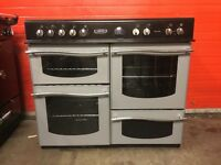 Leisure roma range electric cooker 100cm silver ceramic double oven 3 months warranty free local de