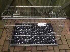 New medium size folding silver dog cage