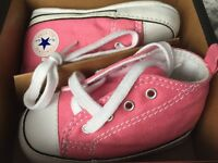 Convers trainers infant size 3 brand new pink