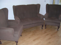Three Piece Suite - 2 seater sofa + 2 armchairs