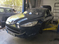 BREAKING FOR SPARES MINT PEUGEOT 407 2.7L TDV6 2006 NAVY BLUE