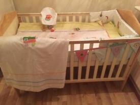 Cot/junior bed/ sprung mattress/ bedding....