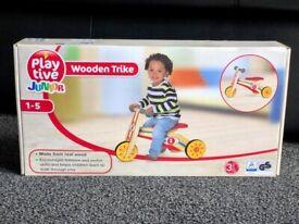 Brand New Sealed Box PLAYTIVE® GERMAN, 2 in 1, Wooden Balance Bike Toddler Junior Trike Unisex 12 M+