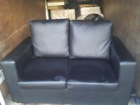 Best price! 2 and 3 seater sofa, black and brown for sale.