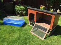 Rabbit or Guinea Pig Hutch (can deliver)+ indoor Hutch