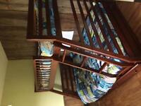 Twin over double bunk bed with storage drawers
