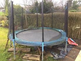 Trampoline safety net and ladder. 12ft