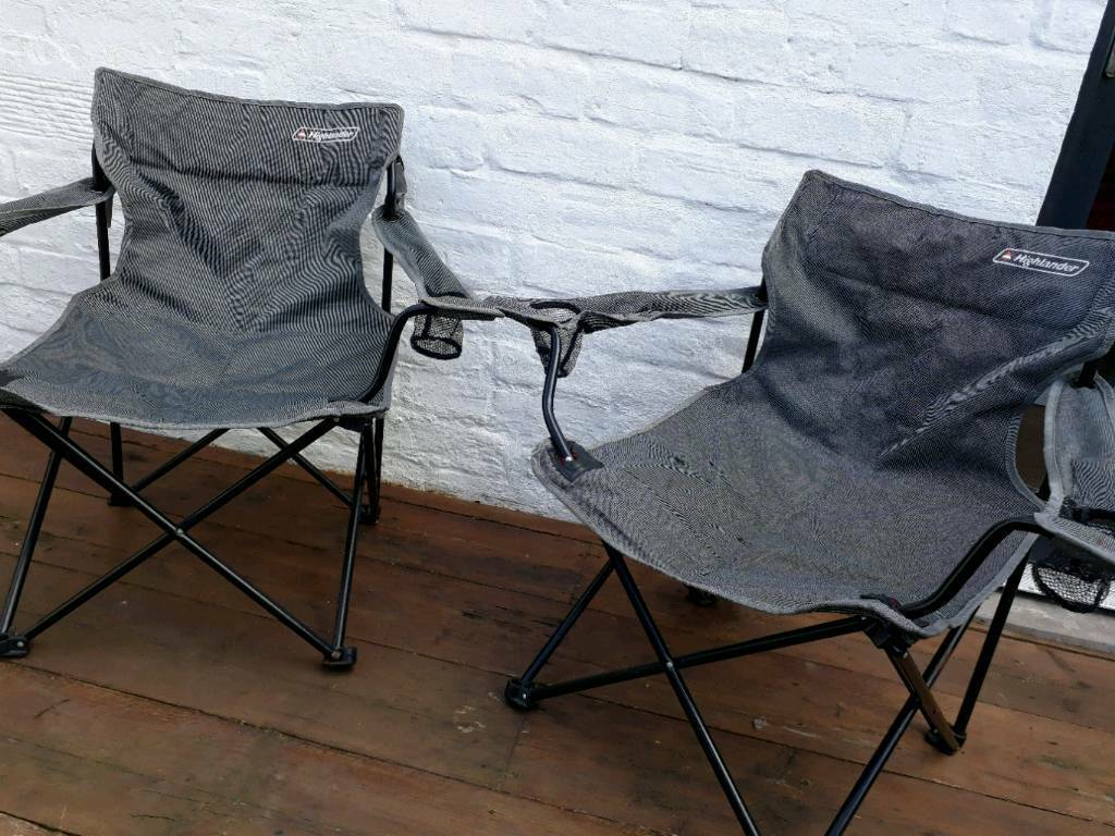 Highlander Folding Camping Chairs 2 In Portobello
