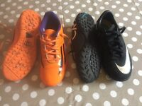 Football AstroTurf trainers size 2 , Nike CR7 and adidas
