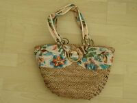 Women's bag - Straw / Basket Beach shoulder/hand bag