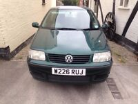 V W POLO 1.4 GREEN 5 DOOR ONE PRIVIES HAD THE CAR