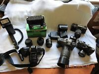 collectable roll film camera's and oddments