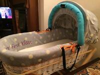 Unisex moses basket- used good condition.