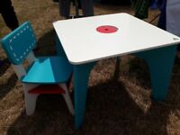 Childrens ELC table and chair
