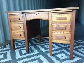 Vintage oak Teachers desk