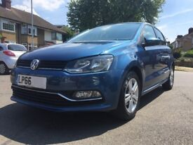 Volkswagen WW Polo 1.2 Match TSi Automatic 5 Door Only 1800 miles Perfect Condition Blue Motion