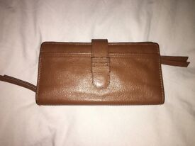 White Stuff Tan Real Leather Purse