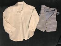 Shirt, waistcoat & bow tie 18-24m