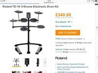 Roland TD-1K Electronic drumkit