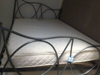 Beds 3 New Chatsworth Silver Metal Bed Happy Beds Steel 4'6 Orthopaedic Mattress Fire Retd Liverpool