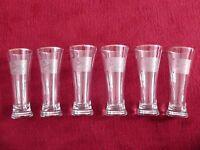 TUBORG BEER Glasses Fluted Vintage Gold - Six Glasses