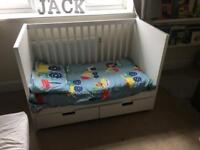 Ikea Cot/Cot bed with mattress
