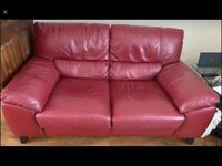 2 x DFS Leather sofas