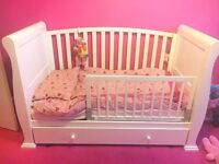 Sleigh cot / cot bed for sale