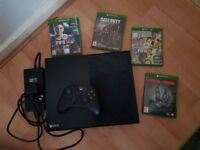 XBOX ONE 500GB WITH GAMES MAY SWAP FOR PS4