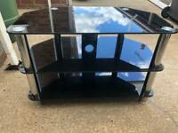 Black glass tv stand free