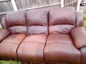 3 seater reclining sofa