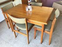 MIDCENTURY TABLE+ 4 CHAIRS FREE DELIVERY LDN🇬🇧1960s-1970s