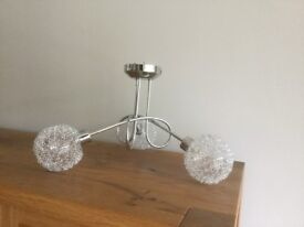 Chrome Ceiling Lights x 2 (£10 each) - Can be Sold Separately