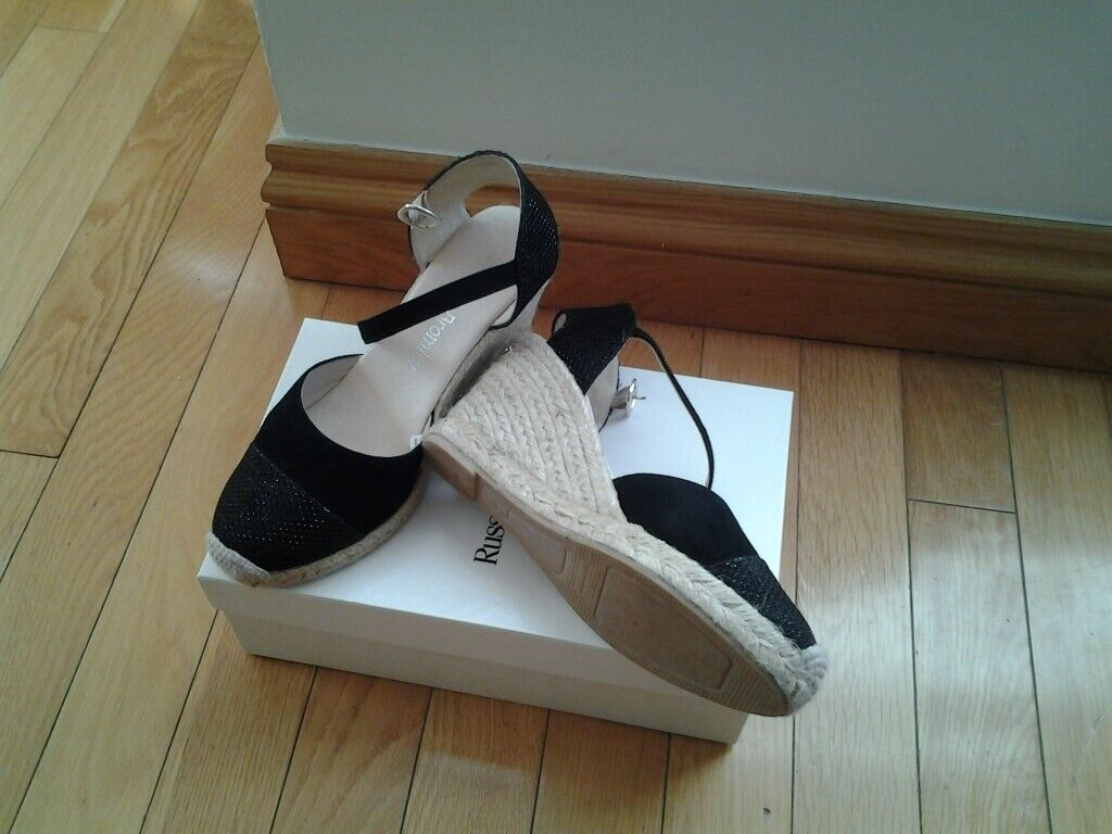 f28d4064bc4 Russell and Bromley black suede espadrilles (New) | in Weymouth, Dorset |  Gumtree
