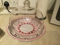 Emma Bridgewater glass domed food tray £22