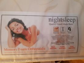 Brand New UK King Size Memory Foam Orthopaedic Mattress, Unopened. Delivery available