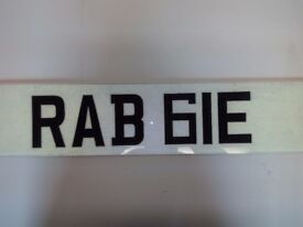 Personal registration plate RABBIE best price available
