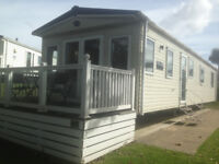 CARAVAN TO LET COMBE HAVEN HASTINGS. 3 BED ABI AMBLESIDE PRESTIGE WITH DECK SLEEPS 8 AVAILABLE NOW