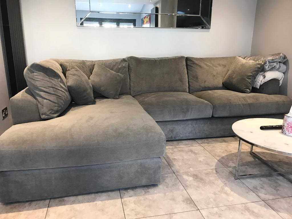Next Stratus Left Hand Chaise Sofa French Grey Ono In