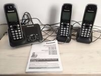 Panasonic Triple Cordless Phones & Answering Machine